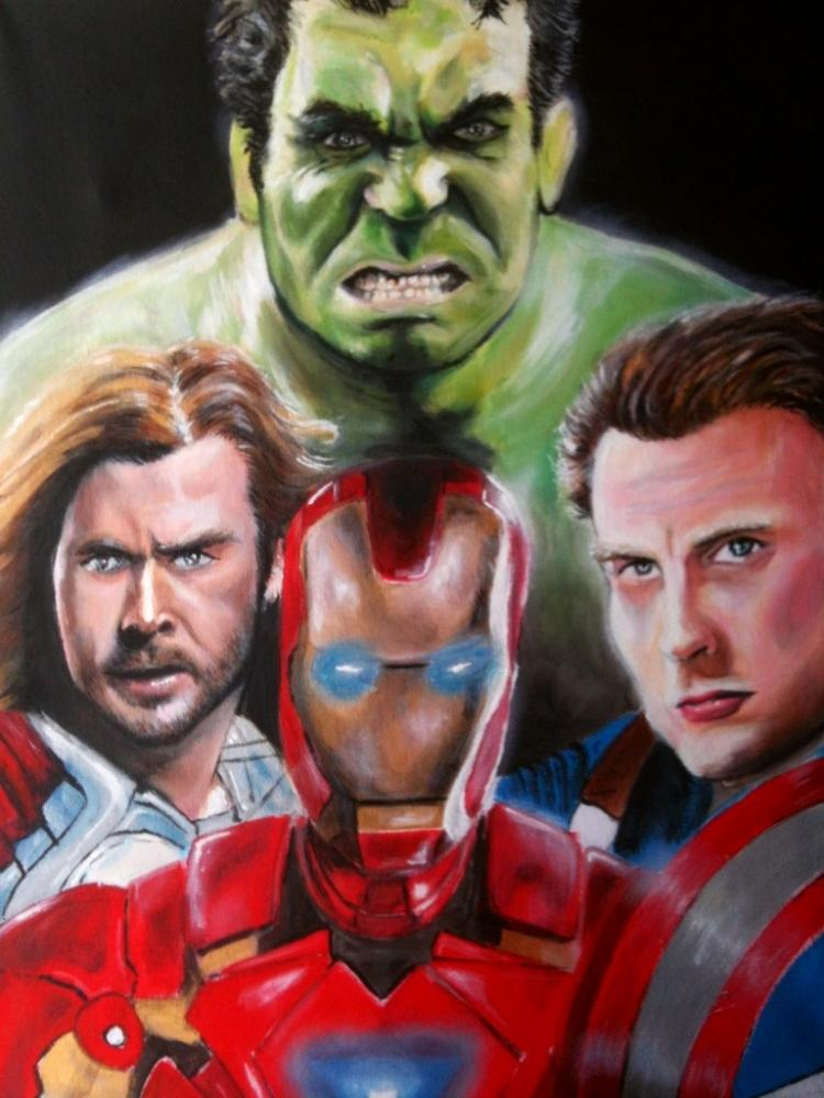 Hulk, Iron Man, Captain America, Thor by ChrisDuckett